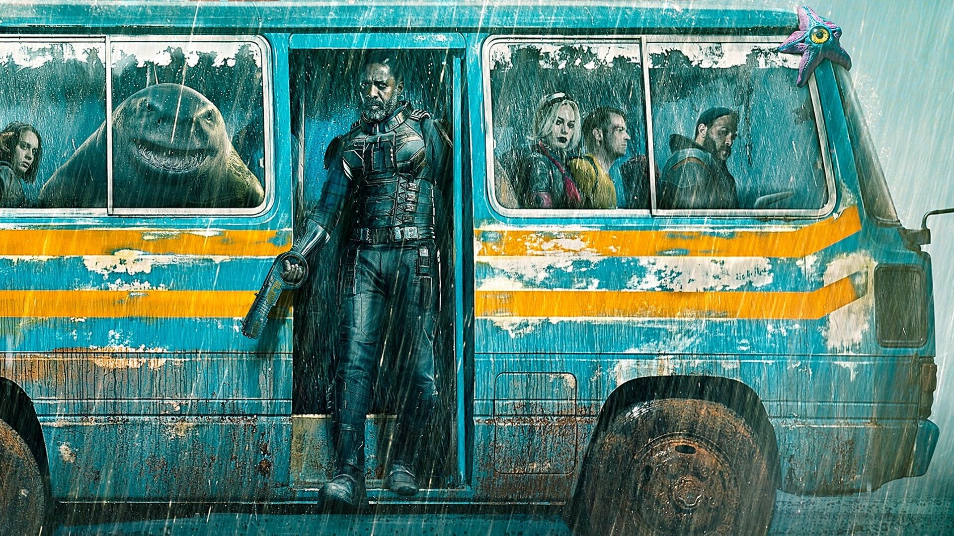 New Poster Art For James Gunn's THE SUICIDE SQUAD - The Team Rolls Into  Action on a Bus — GeekTyrant